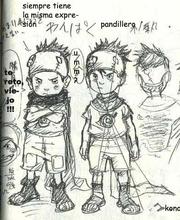 Bocetos de Konohamaru