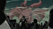 Grupo de Hiruzen vs Kurama