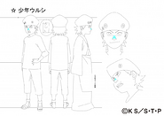 Arte Pierrot - Jovem Urushi