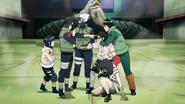 Hayate, Kakashi, Guy e Kurenai salvam Hinata de Neji