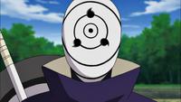 Obito como Tobi durante la Cuarta Guerra Mundial Shinobi