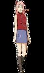 Sakura - 17 anos com cabelo longo (Render)