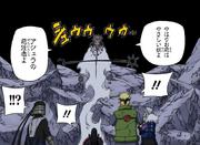 Hagoromo aparece ante los cuatro Hokages Manga
