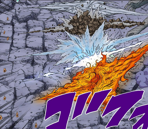 Jutsu Gran Combo de Elemento Quíntuple Manga