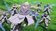Kimimaro lucha contra los Samurai