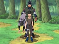 Asuma rescues Shikamaru
