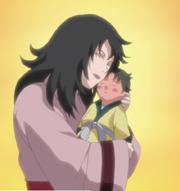 Mirai Sarutobi de bebé