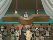 O Conselho de Konoha no anime