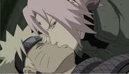 Sakura ajuda Naruto a respirar (sei)