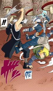 Minato salvando Kakashi (Mangá Colorido)