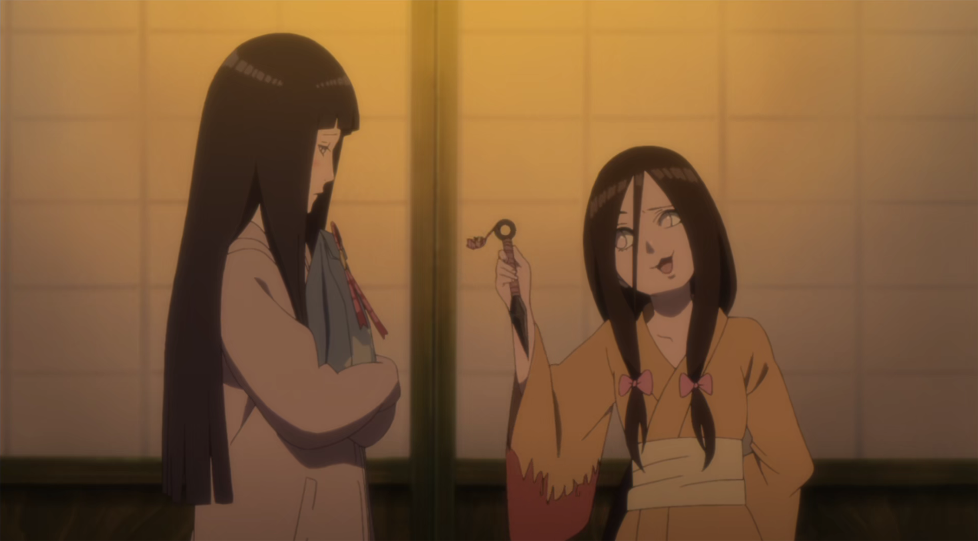 Image Hanabi Teases Hinata Png Narutopedia Fandom