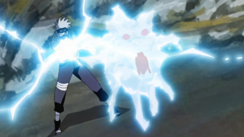 The technique depicted in the anime.