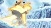 Naruto evadiendo el Yomotsu Hirasaka de Kaguya
