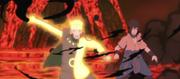 Naruto libera a Sasuke de Zetsu Negro