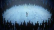 Sasuke e Naruto sendo julgados