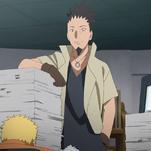Shikamaru le informa a Naruto sobre su hijo