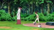 Hiruzen encontra Iruka no memorial