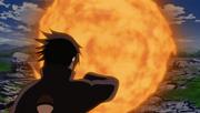 Izuna usando el elemento fuego