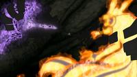 Obito arrête Naruto et Sasuke
