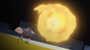 Obito usando el Elemento Fuego Jutsu Gran Bola de Fuego