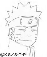 Arte Pierrot - Feição de Naruto