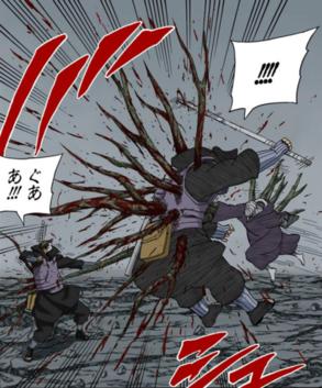 Mokuton Sashiki no Jutsu Obito Mangá