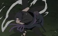 Sasuke uses Fūma Shuriken