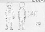 Diseño de Naruto en la niñez II por Pierrot
