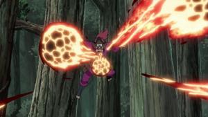 Elemento Lava Jutsu Corriente de Rocas Abrasadoras Anime