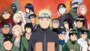 Naruto recordando que tiene el apoyo de sus compañeros