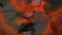 Obito absorve o Chakra de Naruto em Kakashi