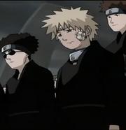 Naruto en el funeral del Tercer Hokage