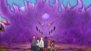 Sasuke ativa seu Susanoo (Anime)
