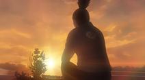 Shikamaru at Asuma's grave
