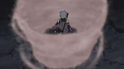 Yukimi usando su forma de humo