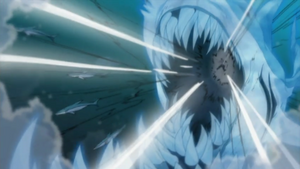 Elemento Agua Jutsu de Bala Tiburón Gigante Anime