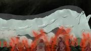Katsuyu comienza a derretirse