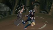 Minato salva a Kakashi de Mahiru