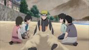 Naruto consola as crianças