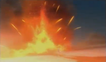 …and then made to explode.