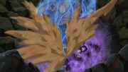 Gaara interfiere en la batalla entre A y Sasuke