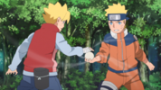 Boruto training with Naruto