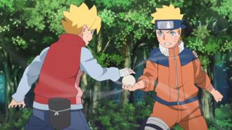 Boruto training with Naruto