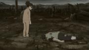 Chen olhando para seu aluno morto