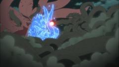 El hombre de madera choca contra Kurama y el Susanoo