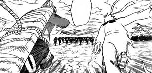 Naruto i bee spotykają zetsu