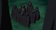 Zetsus disfrazados de los difuntos miembros de Akatsuki