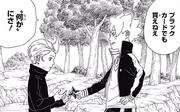 Boruto regala la shuriken a Tentō