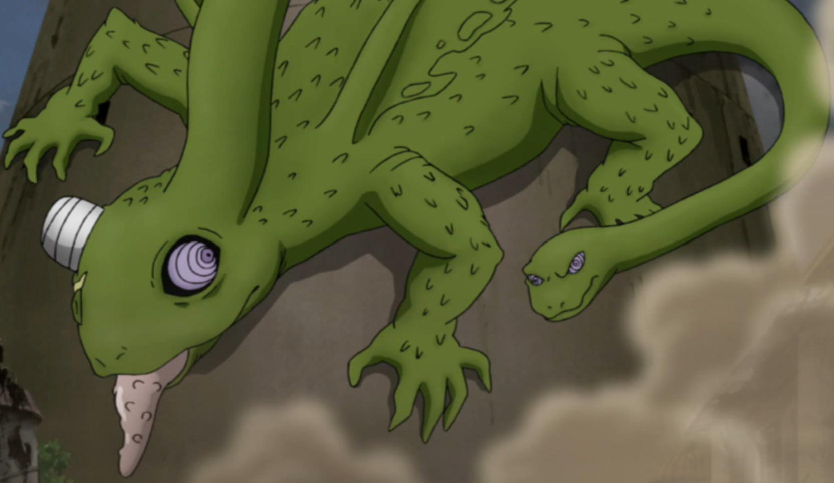 Giant Snake-Tailed Chameleon   Narutopedia   FANDOM ...