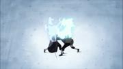 Kakashi y Obito luchando con Genjutsu
